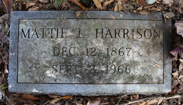MATTIE L. HARRISON Gravestone Photo