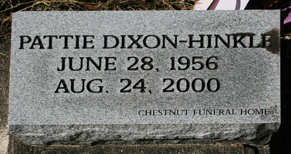 PATTIE DIXON-HINKLE Gravestone Photo
