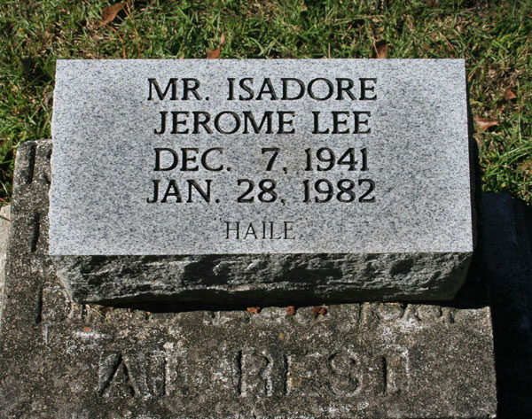 ISADORE JEROME LEE Gravestone Photo