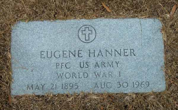 Eugene Hanner Gravestone Photo