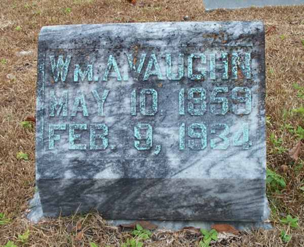 Wm A. Vaughn Gravestone Photo