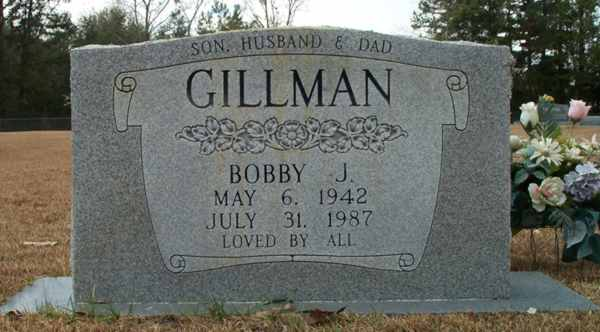 Bobby J. Gillman Gravestone Photo