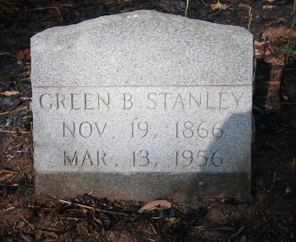Green B. Stanley Gravestone Photo
