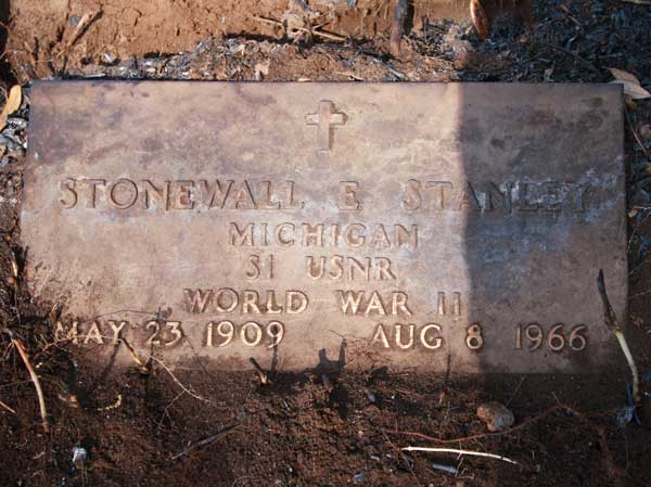 Stonewall E. Stanley Gravestone Photo