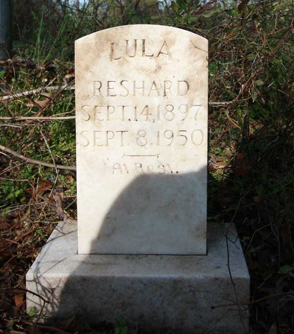 Lula Reshard Gravestone Photo