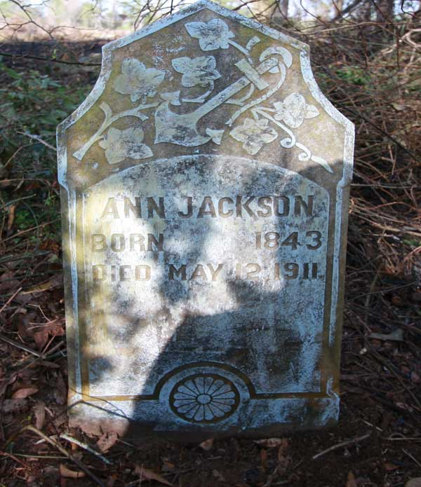 Ann Jackson Gravestone Photo