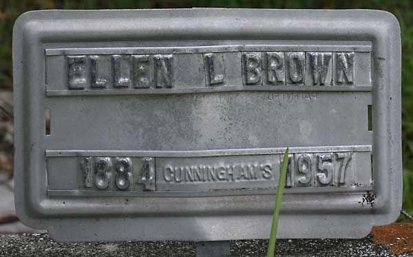 Ellen L. Brown Gravestone Photo