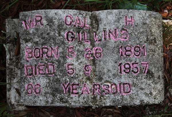 Cal H. Gillins Gravestone Photo