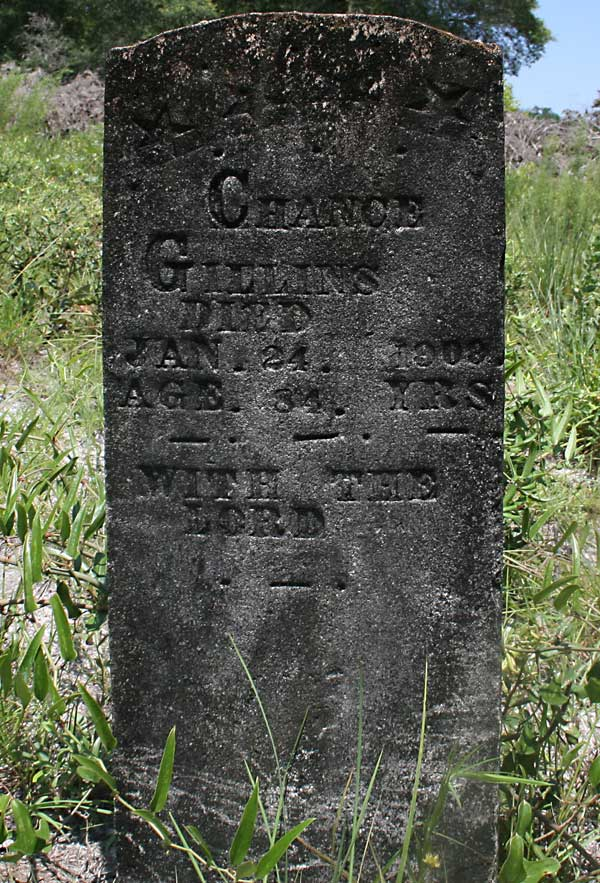 Chance Gillins Gravestone Photo