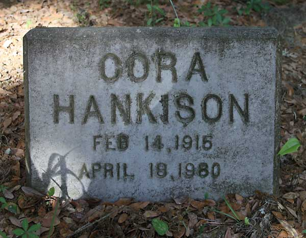Cora Hankison Gravestone Photo