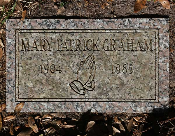 Mary Patrick Graham Gravestone Photo