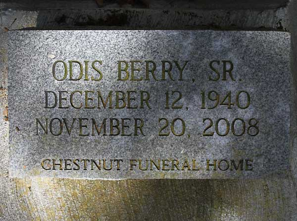 Odis Berry Gravestone Photo