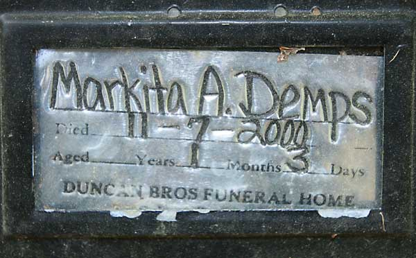 Markita A. Demps Gravestone Photo