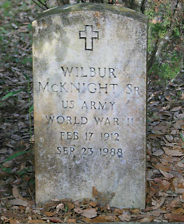 Wilbur McKnight Gravestone Photo