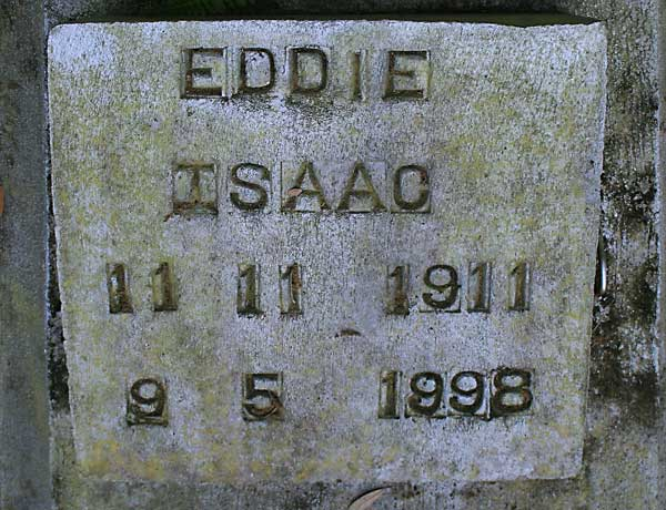 Eddie Isaac Gravestone Photo