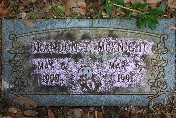 Brandon T. McKnight Gravestone Photo