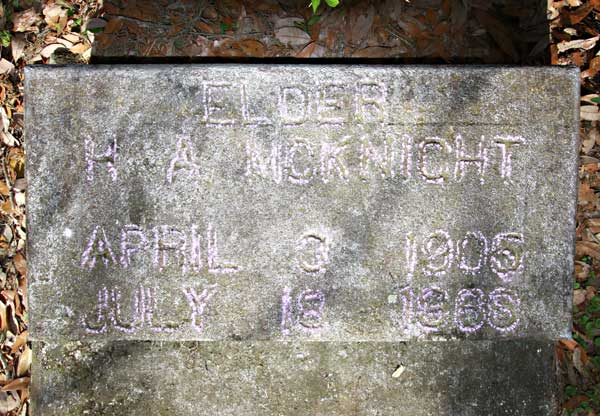 H. A. McKnight Gravestone Photo