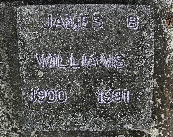 James B. Williams Gravestone Photo