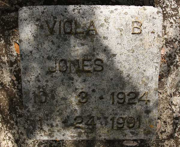 Viola B. Jones Gravestone Photo
