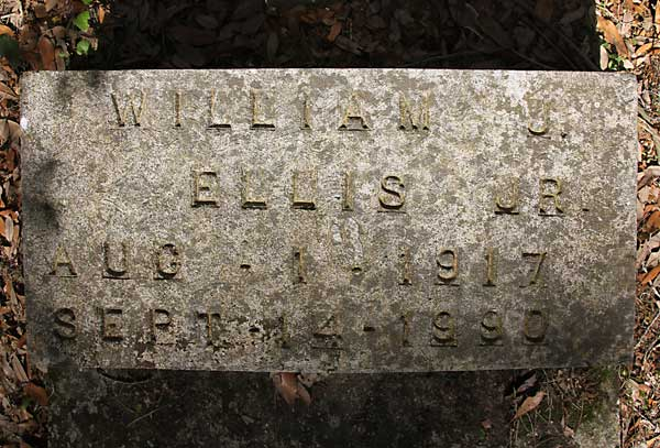 William J. Ellis Gravestone Photo