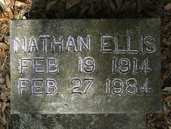 Nathan Ellis Gravestone Photo