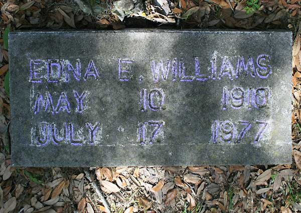 Edna E. Williams Gravestone Photo