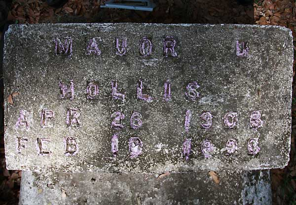 Mavor U. Hollis Gravestone Photo