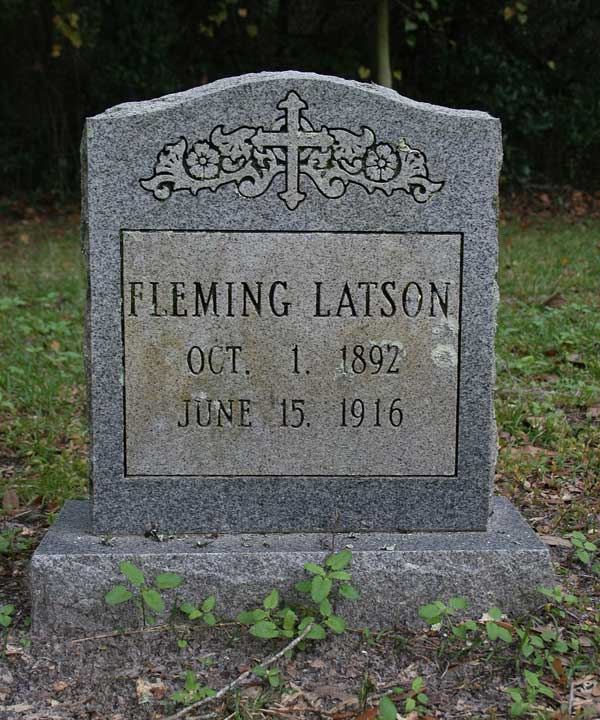 Fleming Latson Gravestone Photo