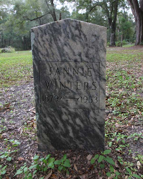 Jannie Winters Gravestone Photo