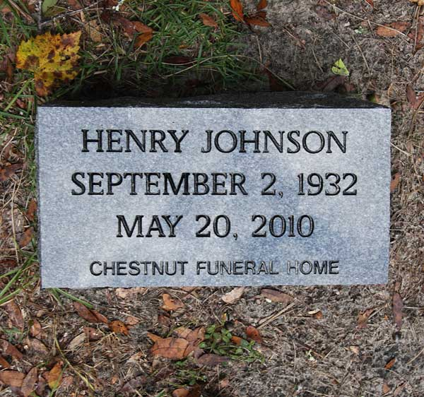 Henry Johnson Gravestone Photo
