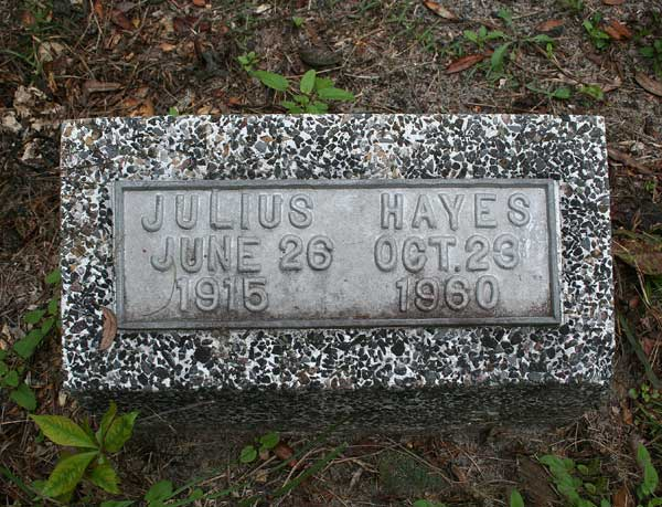Julius Hayes Gravestone Photo