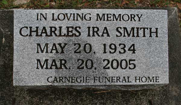 Charles Ira Smith Gravestone Photo