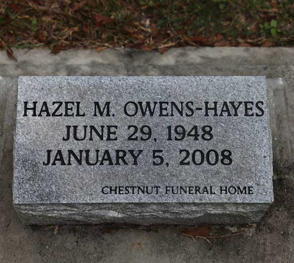 Hazel M. Ownes-Hayes Gravestone Photo
