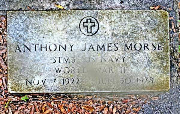 Anthony James Morse Gravestone Photo