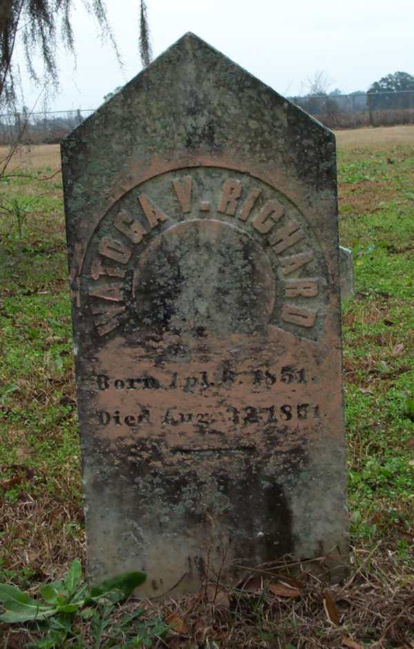 Watoga V. Richard Gravestone Photo