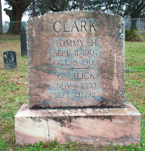 Tommy H. & G. Alick Clark Gravestone Photo