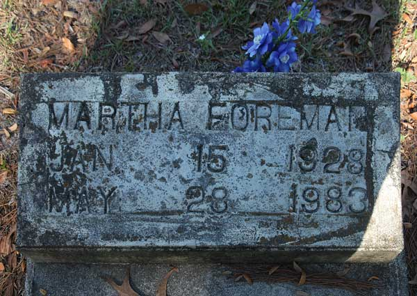 Martha Foreman Gravestone Photo