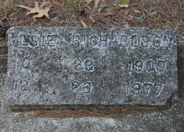Elsie Richardson Gravestone Photo
