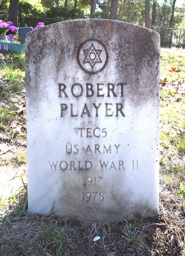 Robert Player Gravestone Photo