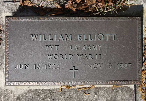 William Elliott Gravestone Photo