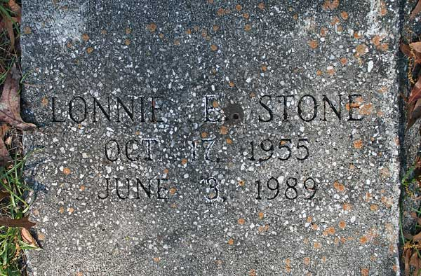 Lonnie E. Stone Gravestone Photo
