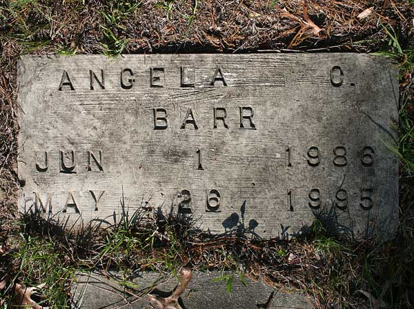 Angela O. Barr Gravestone Photo