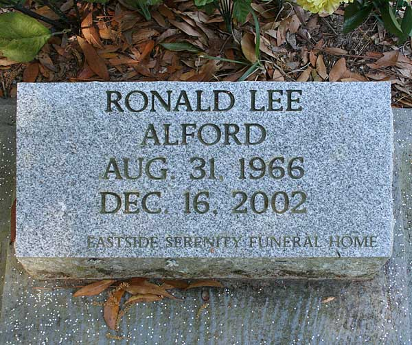 Ronald Lee Alford Gravestone Photo