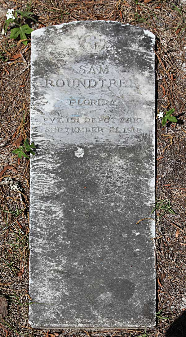 Sam Roundtree Gravestone Photo