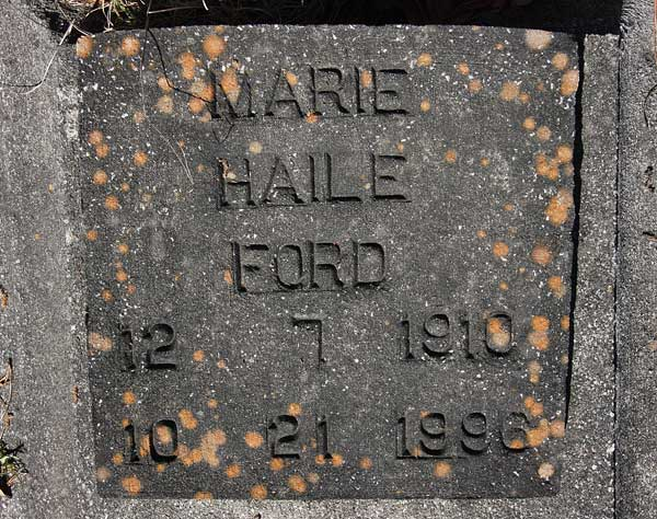 Marie Haile Ford Gravestone Photo