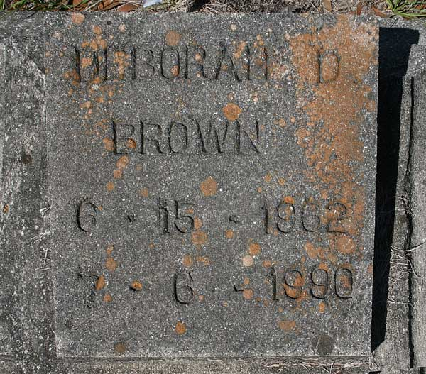 Deborah D. Brown Gravestone Photo
