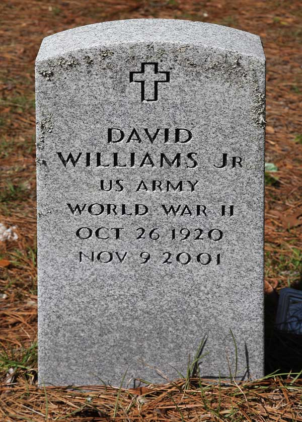 David Williams Gravestone Photo