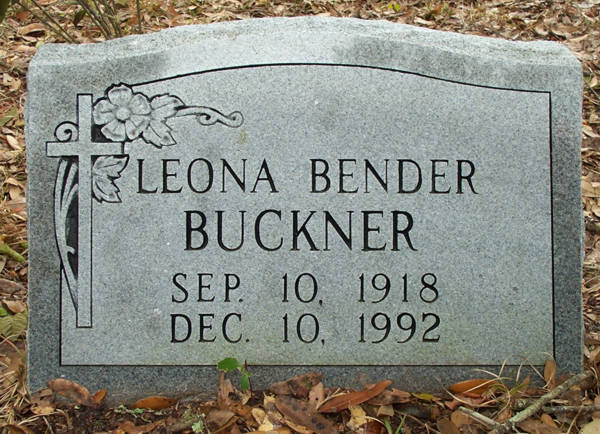 Leona Bender Buckner Gravestone Photo