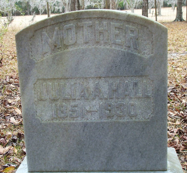 Julia A. Hall Gravestone Photo