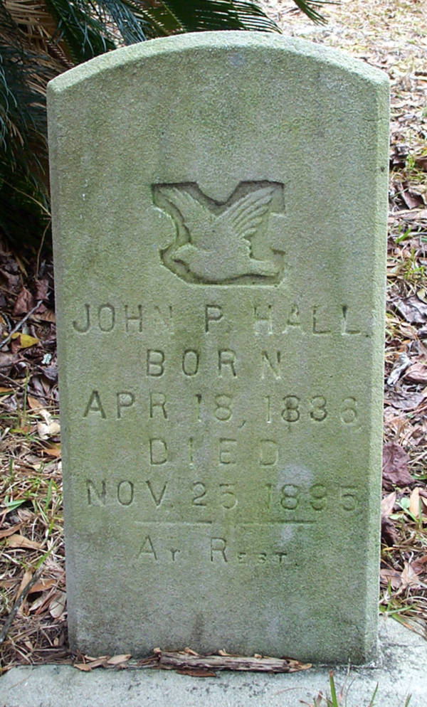John P. Hall Gravestone Photo
